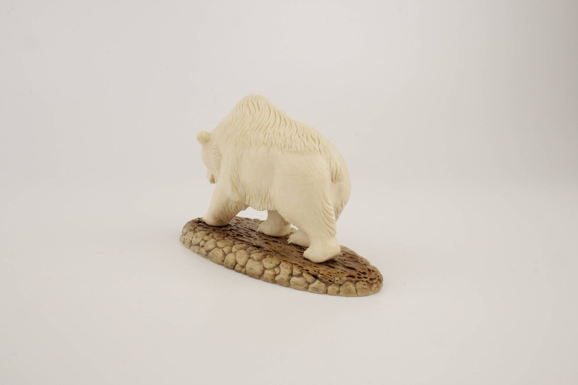 Carved mammoth ivory bear
