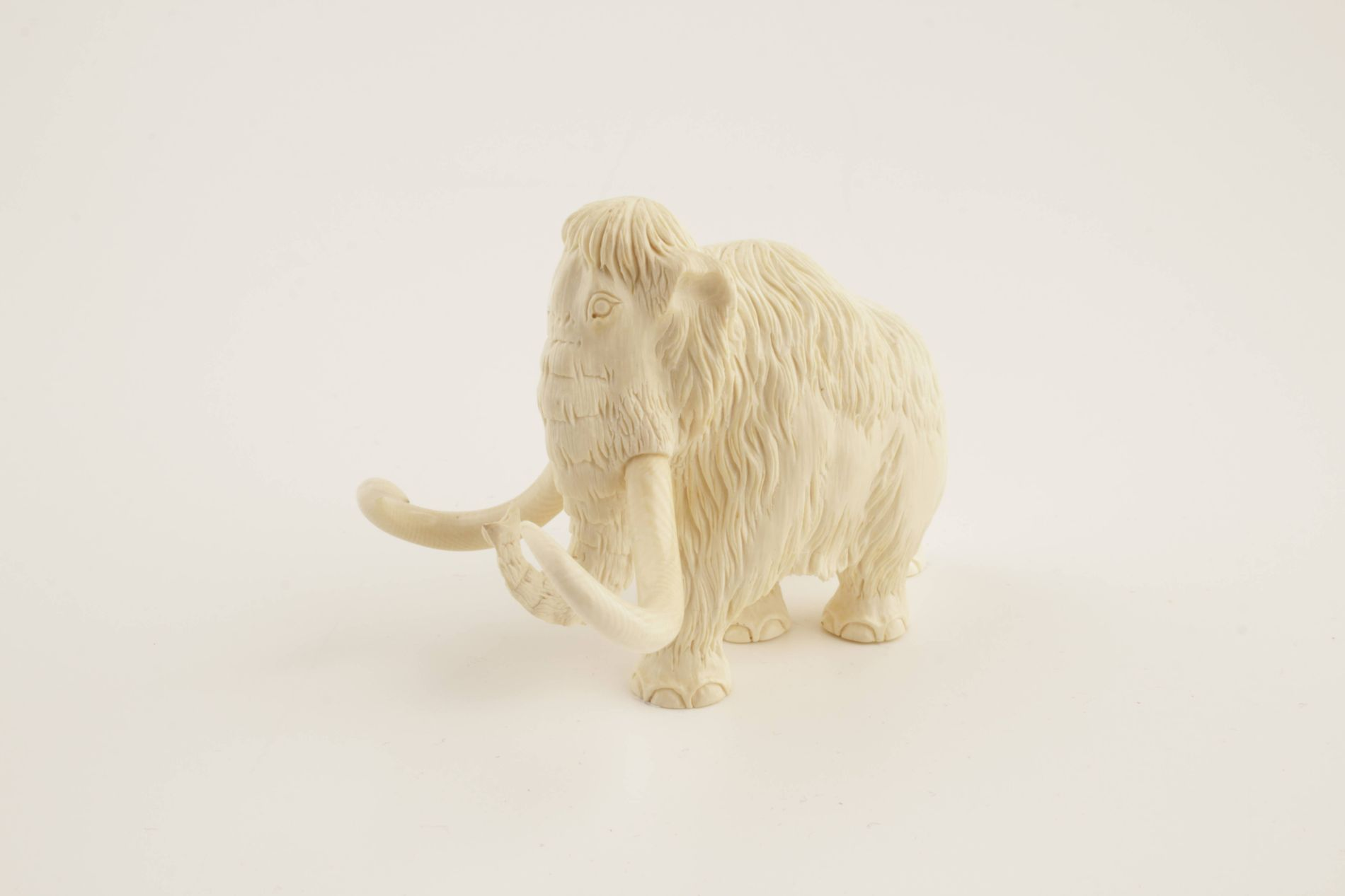Carved woolly mammoth figurine