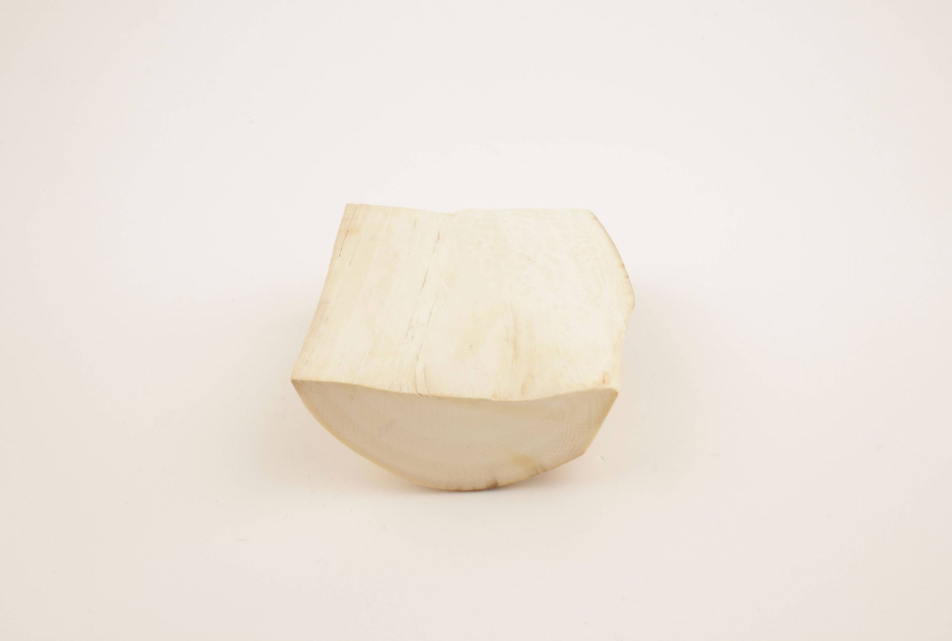 Cream-white mammoth ivory piece