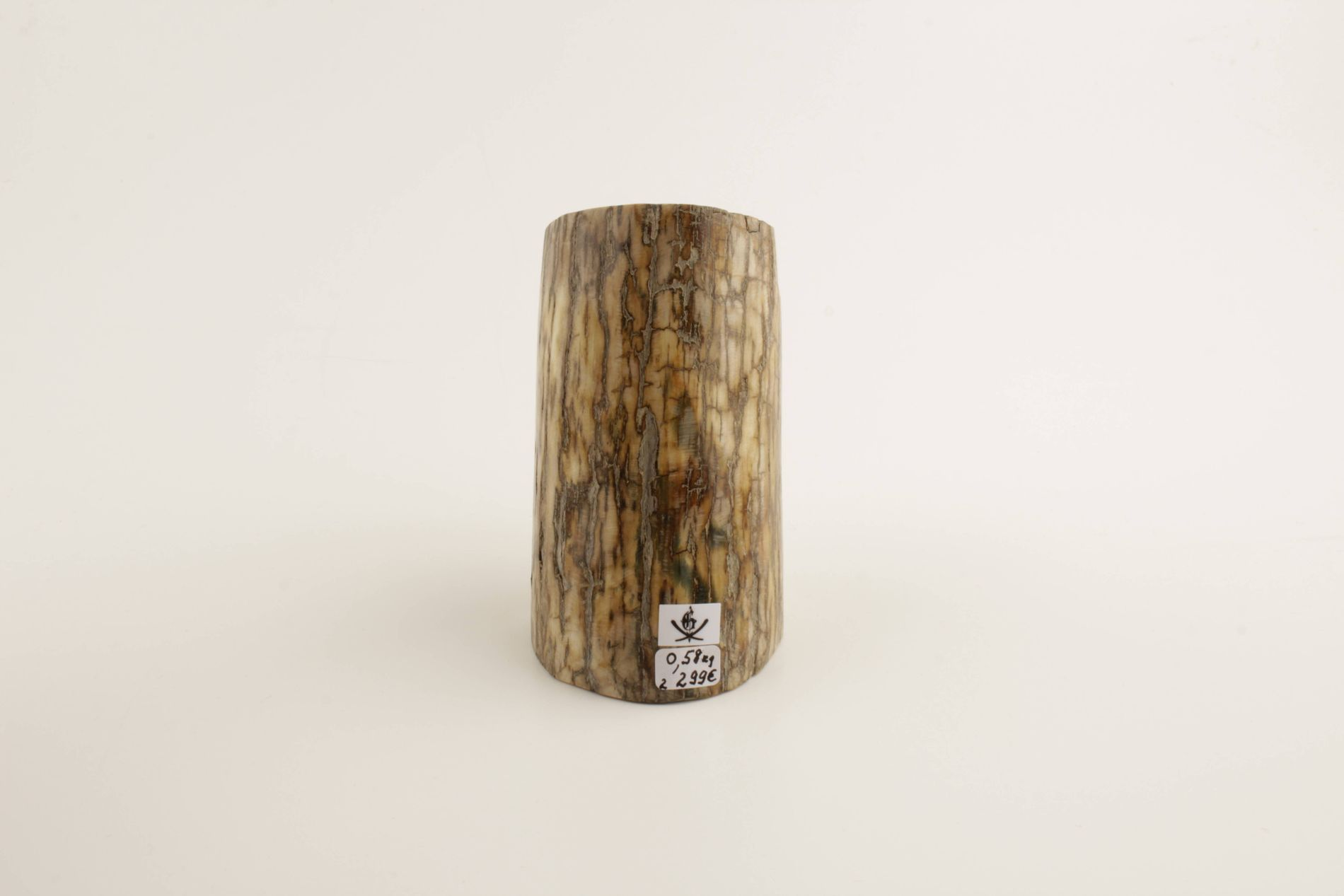 Natural round mammoth ivory piece