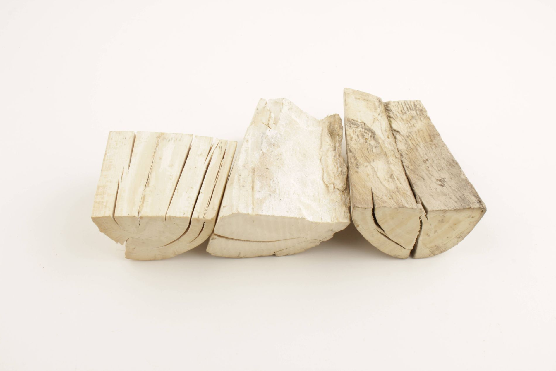 Raw mammoth ivory offcuts