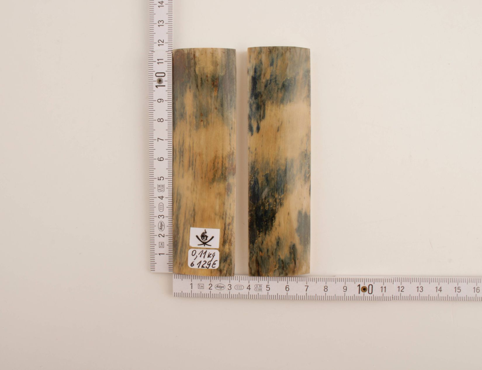 Blue-beige natural mammoth bark scales