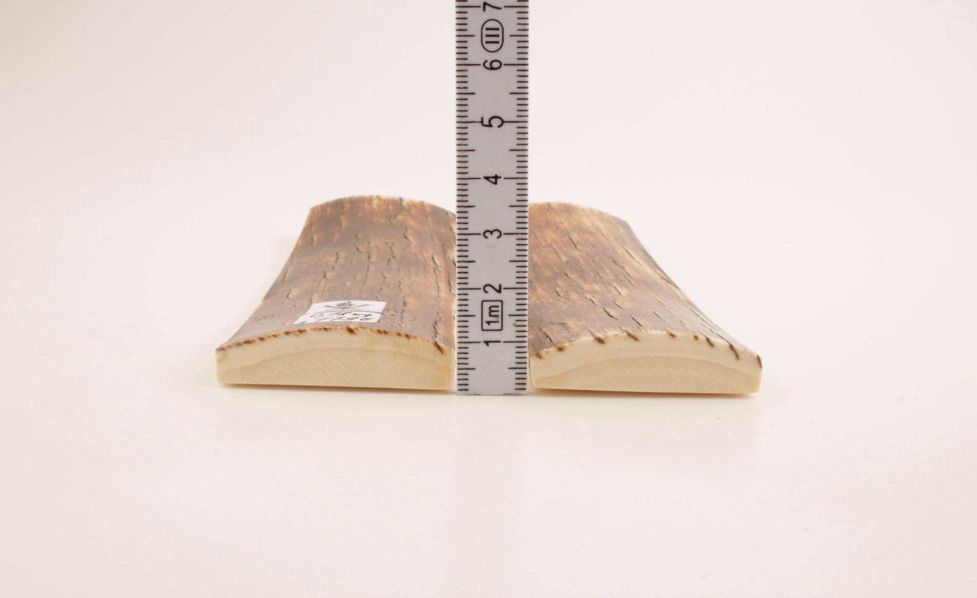 Orange-brown natural mammoth bark scales