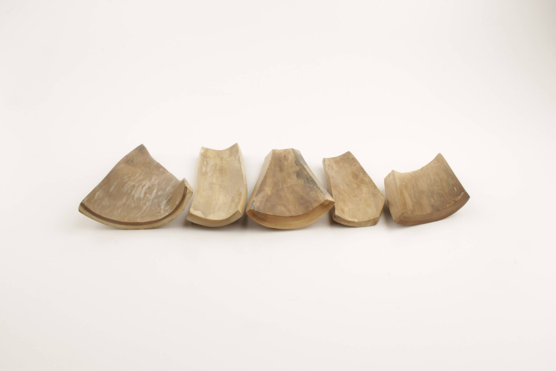 Beige mammoth ivory pieces