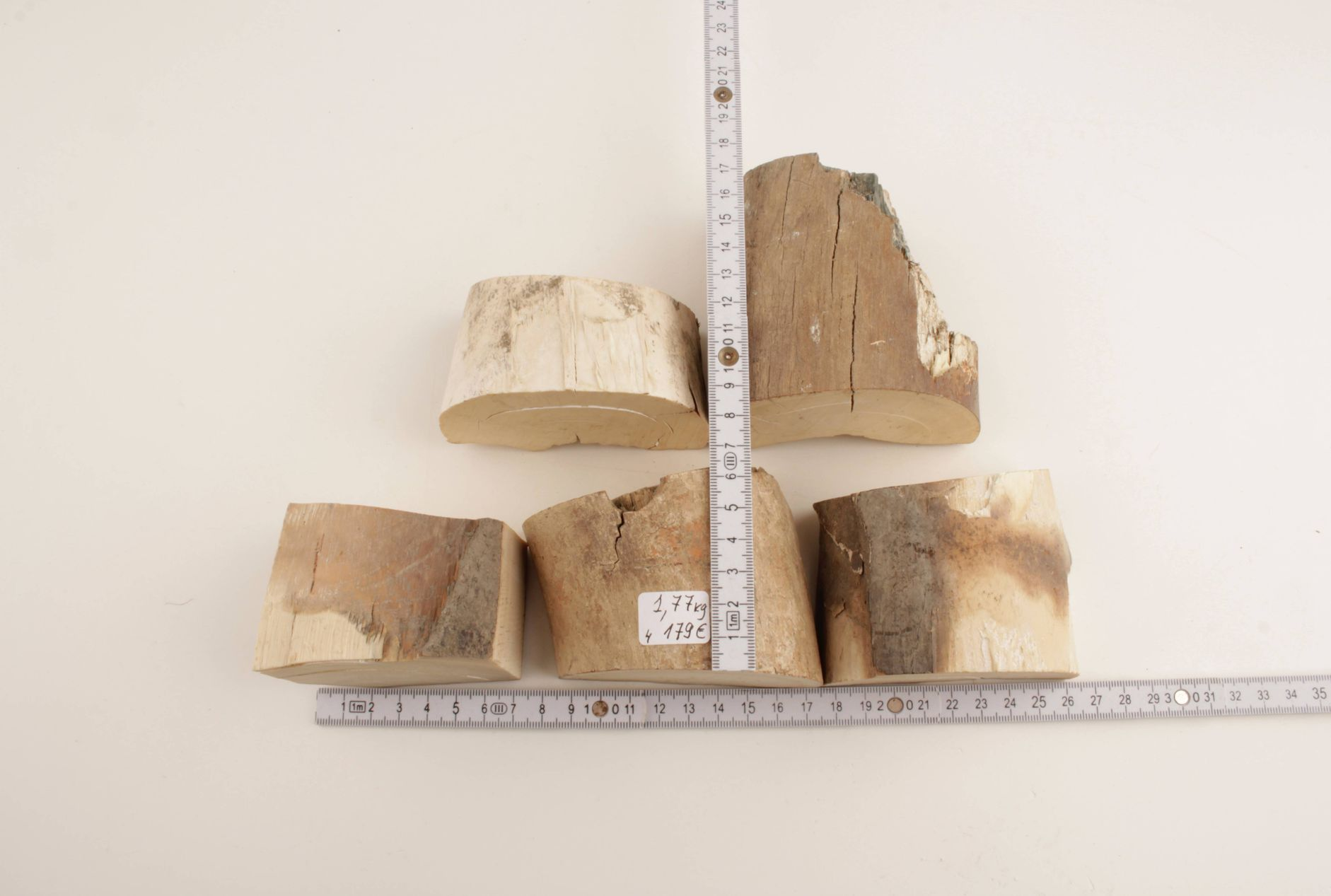 Untreated mammoth tusk pieces