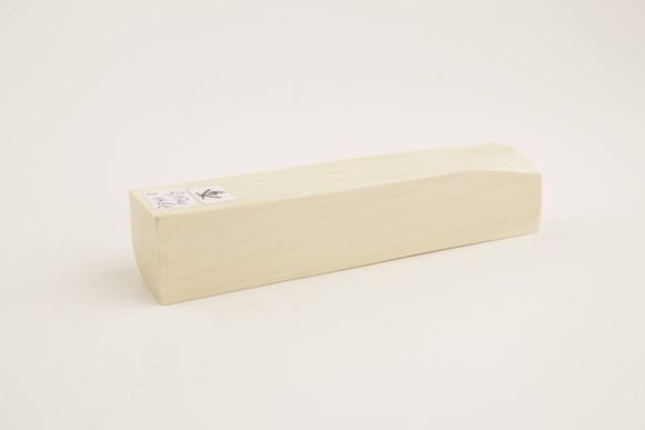 White mammoth ivory block