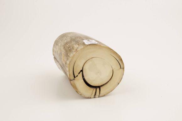 Round mammoth ivory piece