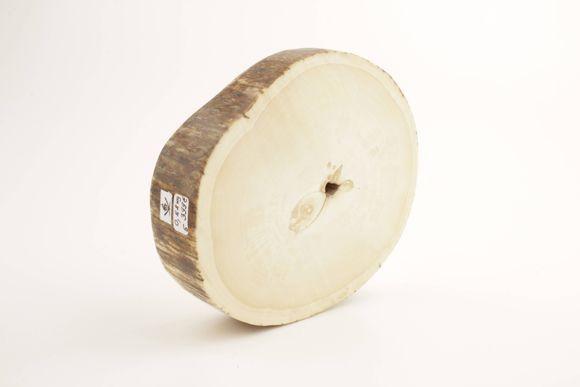 Round mammoth tusk piece