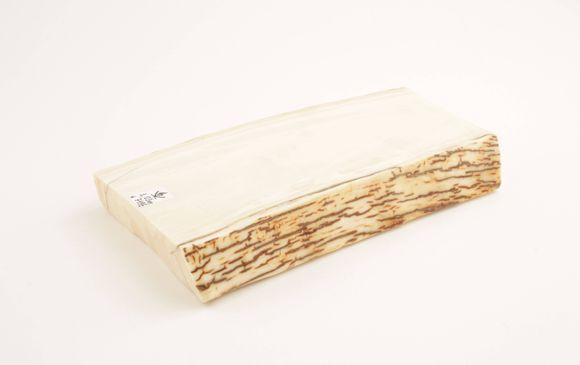 White mammoth ivory segment