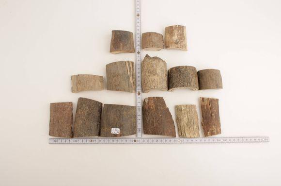Raw mammoth bark pieces
